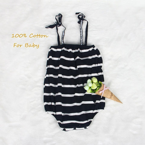 Image of Melario Baby Clothing Sets 2020 Summer Sleeveless Dress Girls Three Piece Sets Short Pants+Dress Set Stripe Patten For Baby 6-24