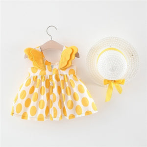 Melario Baby Girls Clothing 2020 Baby Girl Clothes Set Outfit Baby Boho Style Summer Beach Outfit Clothe Tops + Pants + Hat