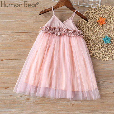 Image of Humor Bear Girls Dress 2020 New Brands Baby Dresses Tassel Hollow Out Design Princess Dress Kids Clothes Children's Clothing