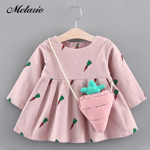 Image of Melario Girls Dresses 2020 New Baby Girls Clothes Birthday lace infant Roses Infant Bowknot Princess Wedding Dress Kids Clothes