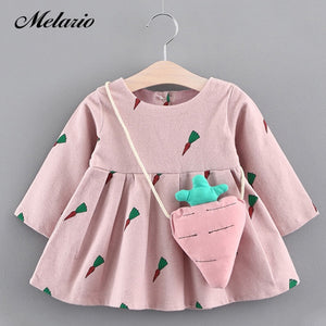 Melario Girls Dresses 2020 New Baby Girls Clothes Birthday lace infant Roses Infant Bowknot Princess Wedding Dress Kids Clothes