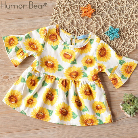 Image of Humor Bear Girls Dress Spring Autumn Flower Princess Dress Brand Girls Clothes Children Clothing Cute Animal Style Girls Dresses
