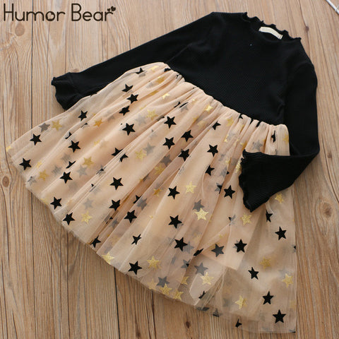 Image of Humor Bear 2020 Girls Dress Children Clothes Autumn Long Sleeve Flowers Printing Design Princess Dresses For 3-7