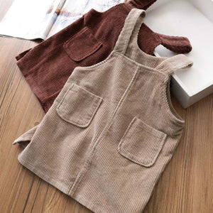 Autunm Winter Corduroy Girls sundress Loose Braces Dress Baby Girl Strap Dresses For Girls Color Overalls Kids Girls Jumpsuit