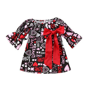 2019 New Arrival Fashion Valentines Day Hot Gift Toddler Baby Girls Bow Floral Party Pageant Formal Kids Dresses Popular Clothes
