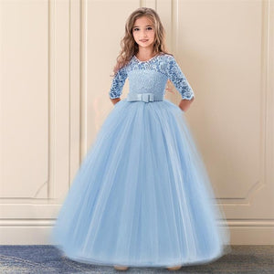Elegant Formal Dress Girls Clothing Flower Girls Wedding Evening Clothes Kids Dresses for Girls Princess Party Long Gown 6-14yrs