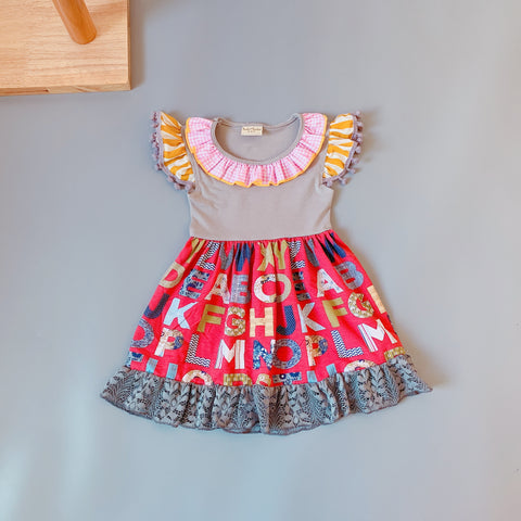 Image of 2-3t Girls boutique ruffled sleevelees dress