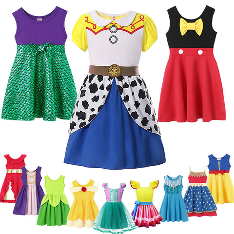 Image of Toys Story 4 Dress For Girl Princess Costumes Fancy Mickey Ariel Belle Outfits Nancy Robe Moana Snow White Elsa Anna Clothes