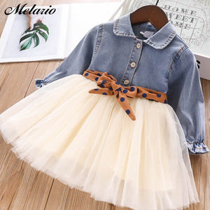 Melario Fashion Leopard Girls Dresses Spring With belt Kids Dress Children Clothing Princess Dress Casual Kids Girls Clothes