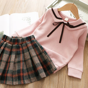 kids clothes 2019 spring girls set long sleeve tops +skirts children 2pieces tracksuit baby girl clothing sets 2year baby outfit