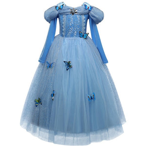 Girls Dress Christmas Anna Elsa Cosplay Costume Dresses Girl Princess Elsa Dress for Birthday Party Children Kids Clothing
