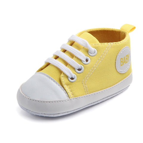 Image of 2020 New Arrival Baby Boys Girls Shoes Canvas Print First Walker Infant Toddler Anti-Slip Prewalker Indoor Shoe For Dropshipping