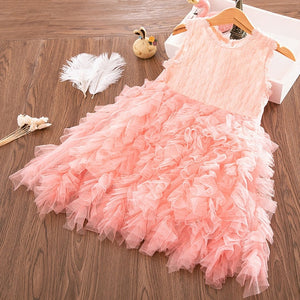 Girls Dress 2019 New Summer Brand Girls Clothes Lace And Ball Design Baby Girls Dress Party Dress For 3-8 Years Infant Dresses