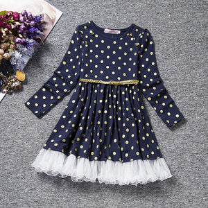 Boutique Girls Polka Dot With Bow Dress (9 New Styles)