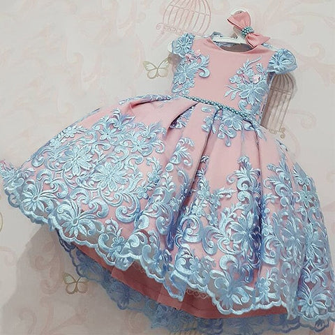 Image of Girls Dress Elegant New Year Princess Children Party Dress Wedding Gown Kids Dresses for Girls Birthday Party Dress Vestido Wear