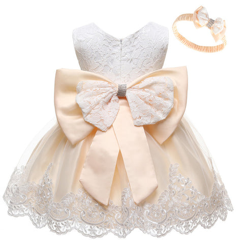 Image of Baby Girls Dress Newborn Baby Lace Princess Dresses For Baby Girls 2 1st Year Birthday Dress Easter Costume Infant Party Dress