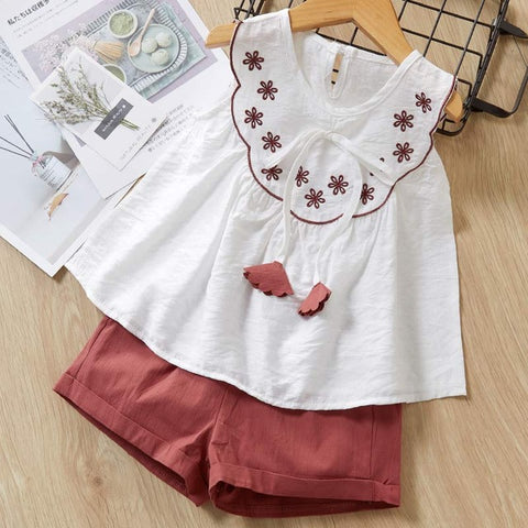 Image of Melario Girls Clothing Sets Summer Baby Girls Clothes New Dot T-Shirt Top Pants 2Pcs Suit Casual Children Clothes Girls Outfit