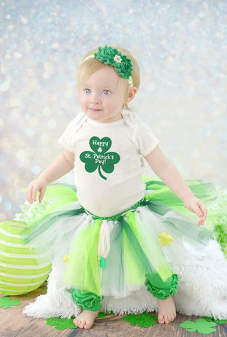 Happy St Patricks Day Green Bodysuit Luckest Boys Girls Kids White Jumpsuit First St Patricks Day Clothes Fashion Onesie