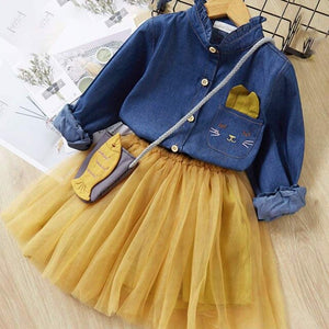 Melario Girls Dress Autumn New children Dresses Girl Clothes Lace plaid Long sleeve elegant Kids Princess dress 3-7 years old