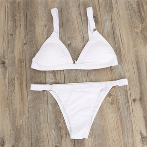 Metal Ring Sexy Bikini Set New Swimwear Women 2019 Push Up Padded Swimsuit Summer Beach Bathing Suit Beach Swimming Fit Hot Sale