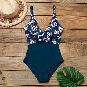 2020 One Piece Swimsuit Sexy Stripe Cross Bathing Suit Backless Splice High Waist Swimming for Beach Wear Plus Size Swimwear