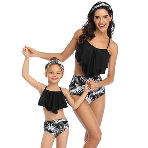 Swimsuit Mommy and Me Bikini Beach Tropical Print