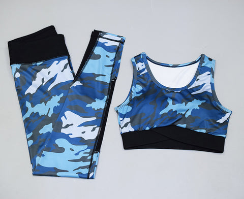 Camo Yoga Leggings & Sport Bra