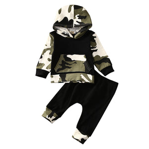 Baby Toddler Boy Camo Hoodie Outfits
