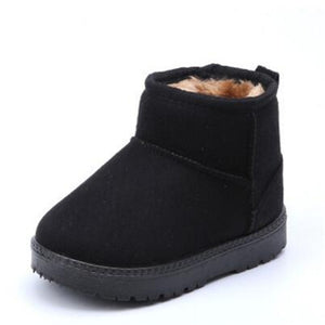 MHYONS Kids Baby Toddler Shoes Child Winter Warm Snow Boots Shoes Plush Thicker Sole Boys Girls Snow Boots Shoes Big Size 22-33