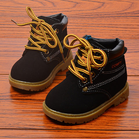 Image of Spring Autumn Winter Children Sneakers Martin Boots Kids Shoes Boys Girls Snow Boots Casual Shoes Girls Boys Plush Fashion Boots