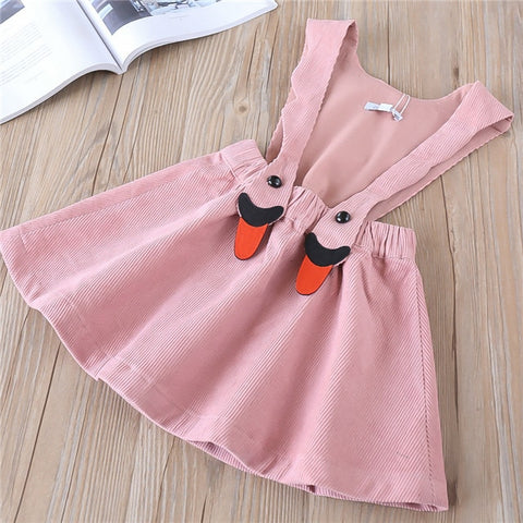 Image of Hurave solid Corduroy New baby Girl clothes Children Summer Clothing sleeveless Kids Clothes Casual suspenders dress