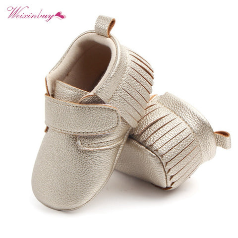 Image of WEIXINBUY 6 Colors Brand Spring Baby Shoes PU Leather Newborn Boys Girls Shoes Non-Slip First Walkers Baby Moccasins 0-12 Months