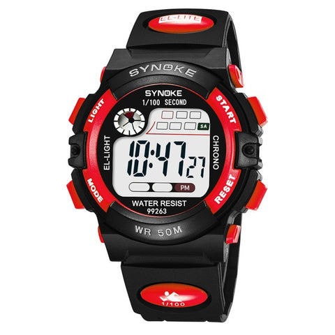 Image of Boys Sports Glow in the Dark Alarm Stopwatch