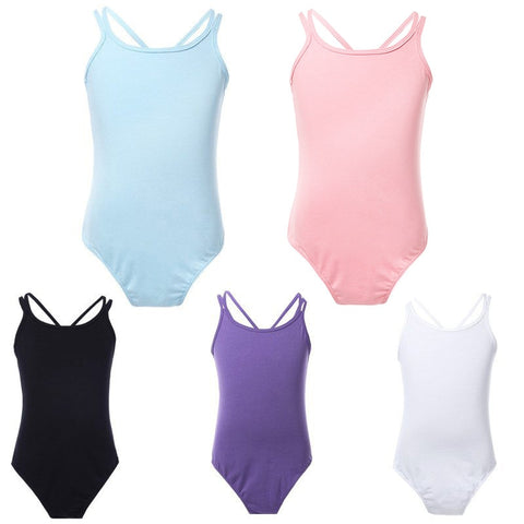 Image of YiZYiF Ballet Leotards Cotton Ballet Dress Camisole Girls Ballet Dance Dancewear Gymnastics Leotard Strap Ballet Leotard Dress