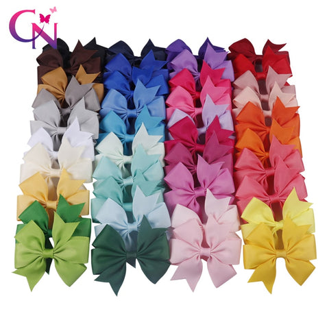 Image of Sale Baby Candy Colorful Ribbon Bow Cute Girls Hairpins Children Hair Clip Hair Accessories Headwear 40 Colors