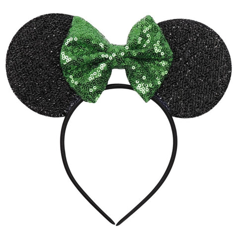CN Hair Accessories Minnie Mouse Ear Headband Hair Band For Women Sequin Bow Girls Headbands Birthday Party Hairband