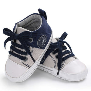 Baby Shoes Classic Canvas Baby Boy Shoes Spring Cotton Straps Stitching Newborn Boy Girl Shoes First Walker Prewalker