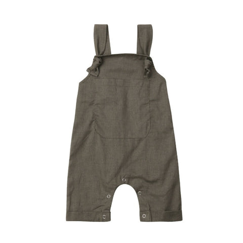 Image of Newborn Baby Boys Girls Solid Dungarees Bib Pants Infant Romper Jumpsuit Overalls Outfits 2019 Toddler New Fashion Baby Clothes