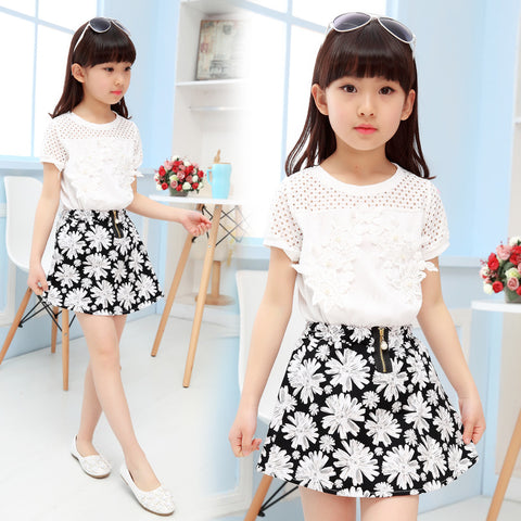 Image of Toddler Girl Clothes Little Girls Clothing Set 2019 Summer Kids Boutique Outfits Sundress 3 4 5 6 7 8 9 10 11 12 13 Years