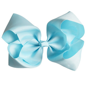 "8"" Handmade Solid Large Hair Bow For Girls Kids Grosgrain Ribbon Bow With Clips Boutique Big Hair Accessories"