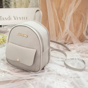 2019 Korean Style Women Mini Backpack PU Leather Shoulder Bag For Teenage Girls Multi-Function Small Bagpack Female Phone Pouch
