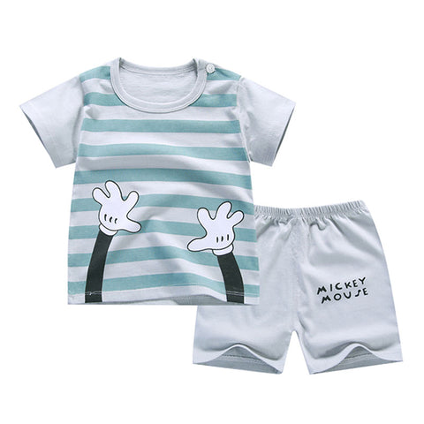 Image of Summer T-Shirt+Short Pants 2019 Baby Boys Girls Cotton Clothing Sets Clothes set Outfits Bebes Suits 6M to 7 Years Old 2 PCS Set