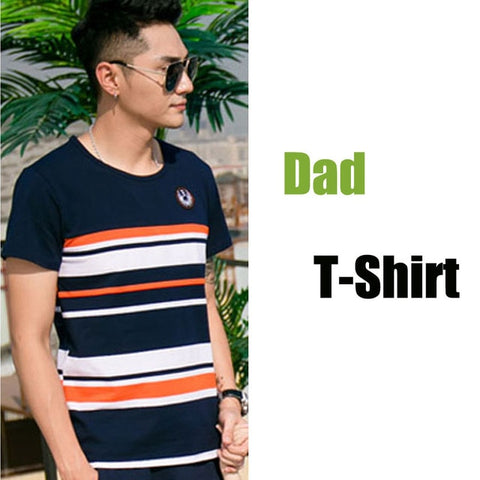 Image of 2019 Summer Striped T-shirt Outfits Mother And Daughter Dresses And Father Son Baby Boy Girl Family Matching Family Outfits