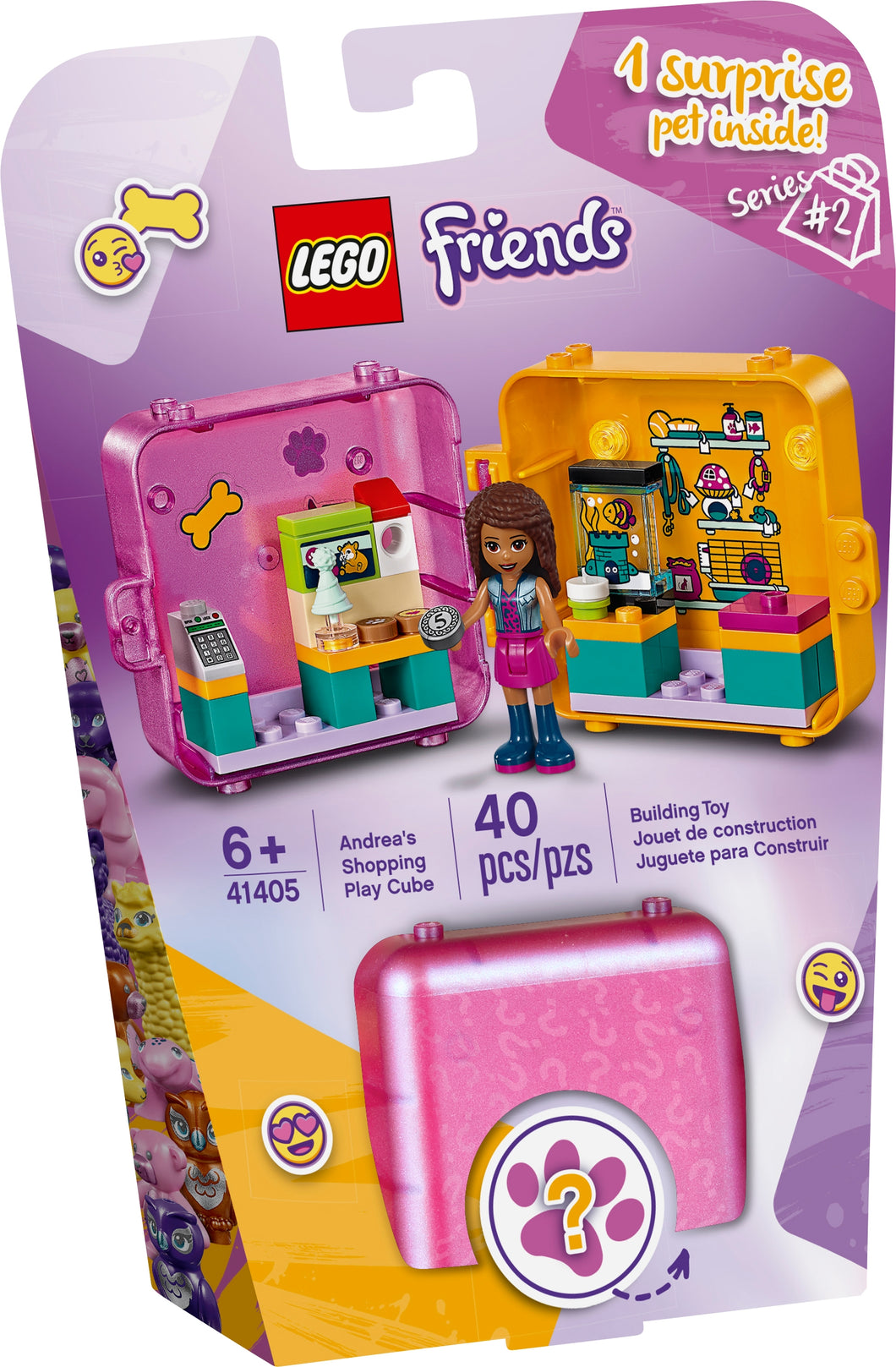 LEGO Friends 41405 Andreas Shopping Play Cube