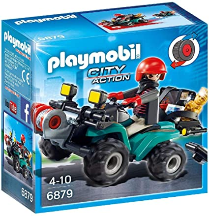 Playmobil City Action 6879 Robbers' Quad with Loot with Pullback Motor