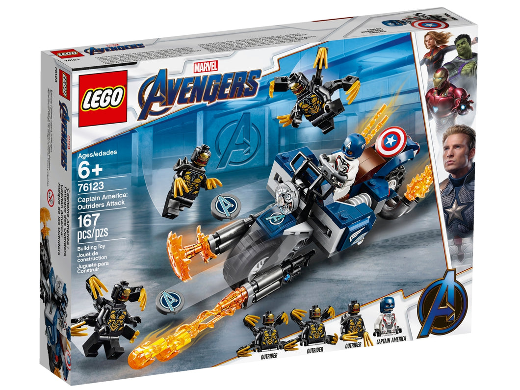 LEGO Avengers Movie 76123 Captain America Outriders Attack