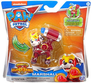 PAW Patrol Mighty Pups Super Paws Marshall Figure