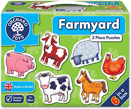 Orchard 2pc Puzzles Farmyard