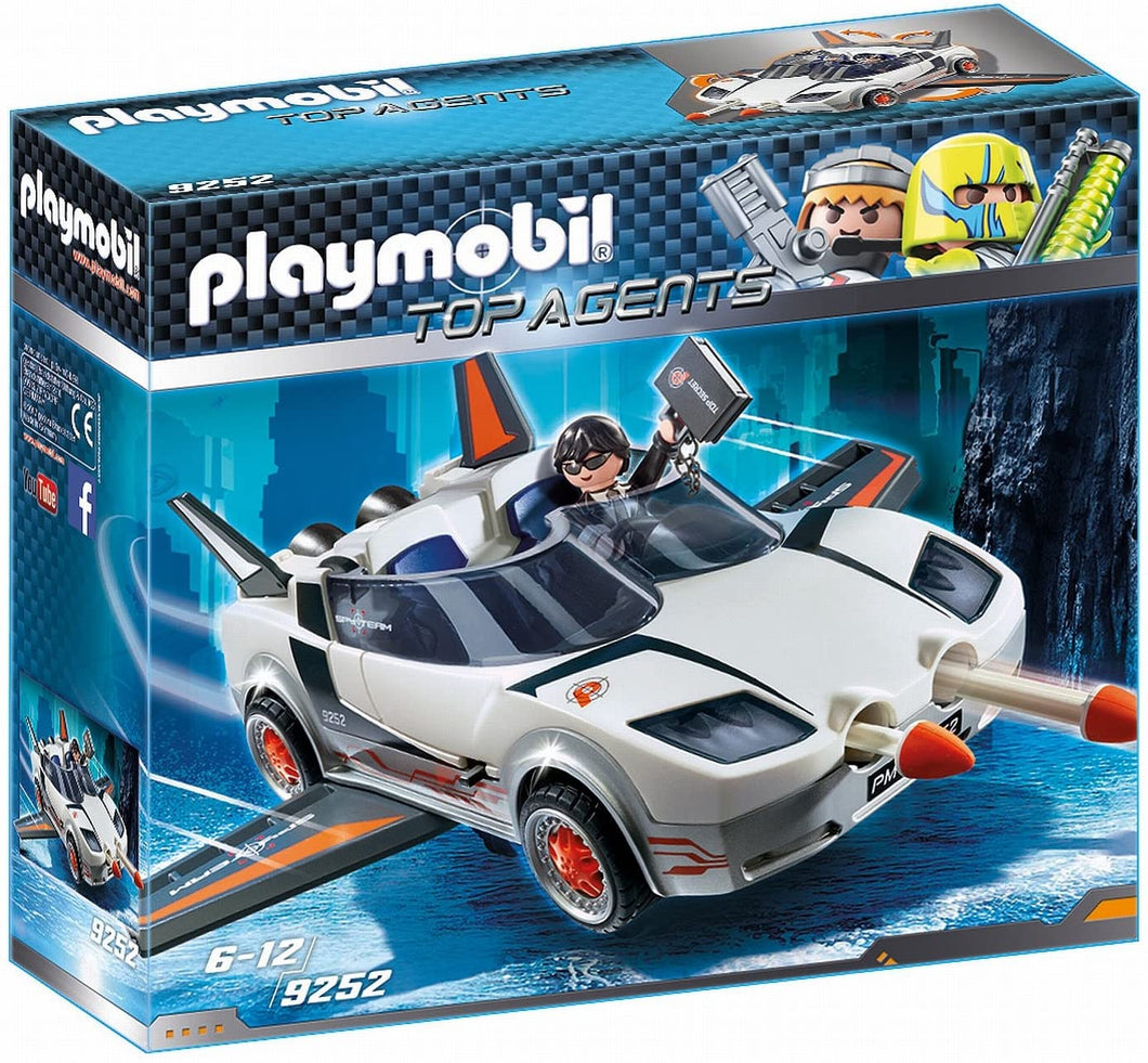 Playmobil Top Agents 9252 Top Agent P. with Racer Firing Weapons