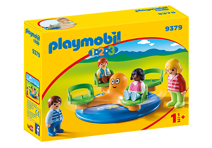 Playmobil 1.2.3 9379 Children's Carousel